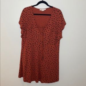 In Every Story Printed Babydoll Tunic Top size 2X